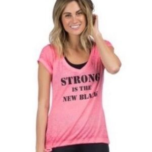 """NWT! Pink Lotus """"Strong is the New Black"""" …"""